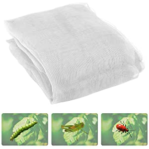 Anphisn ANPHSIN 2 Pack Garden Insect Screen Insect Barrier Netting Mesh Bird Netting 9.8ft × 11.4ft (White)