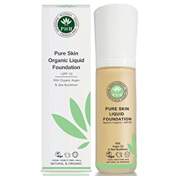 Peau Pure Organique Taille Phb Fond De Teint Liquide De Couleur Rose 30 G 1CX0MOIFh