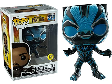 3dd1d8e890dc Amazon.com  Funko Marvel Black Panther Glow in Dark Pop Vinyl Figure ...