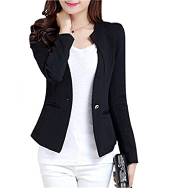 Suits & Sets Analytical Notched Wear Female Suits Blazer Casual Slim Long Sleeve Single Button Blazers White Blue Work Formal Jackets Blazer Feminino Blazers