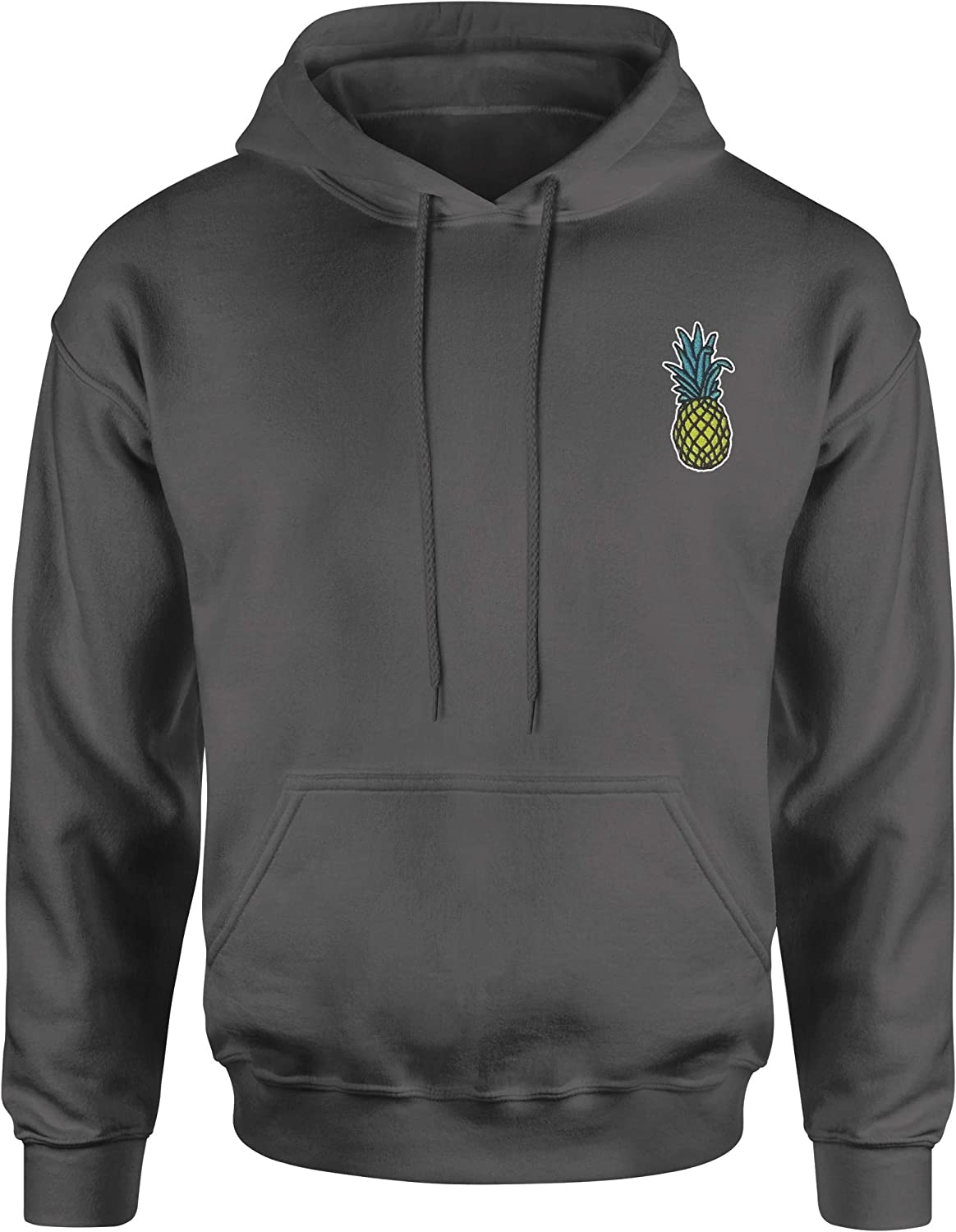 Expression Tees Embroidered Pineapple Patch (Pocket Print) Unisex Adult Hoodie