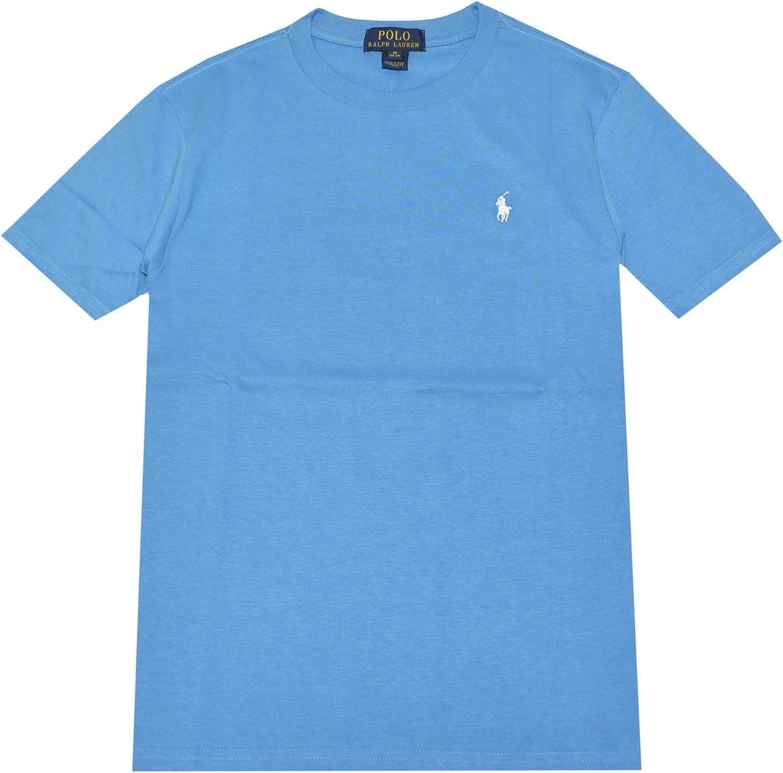 5, Sea Turquoise RALPH LAUREN Polo Boys Crew Neck Pony Logo T-Shirt