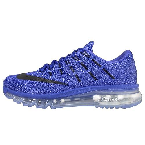 58238b65db Nike AIR MAX 2016 womens running-shoes RACER BLUE/BLACK-CHALK BLUE-BLUE TNT  8.5 B(M) US: Amazon.in: Shoes & Handbags