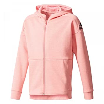 Adidas Girls' Yg Id Stad Fz H Sweatshirt, PinkRostacRoshel