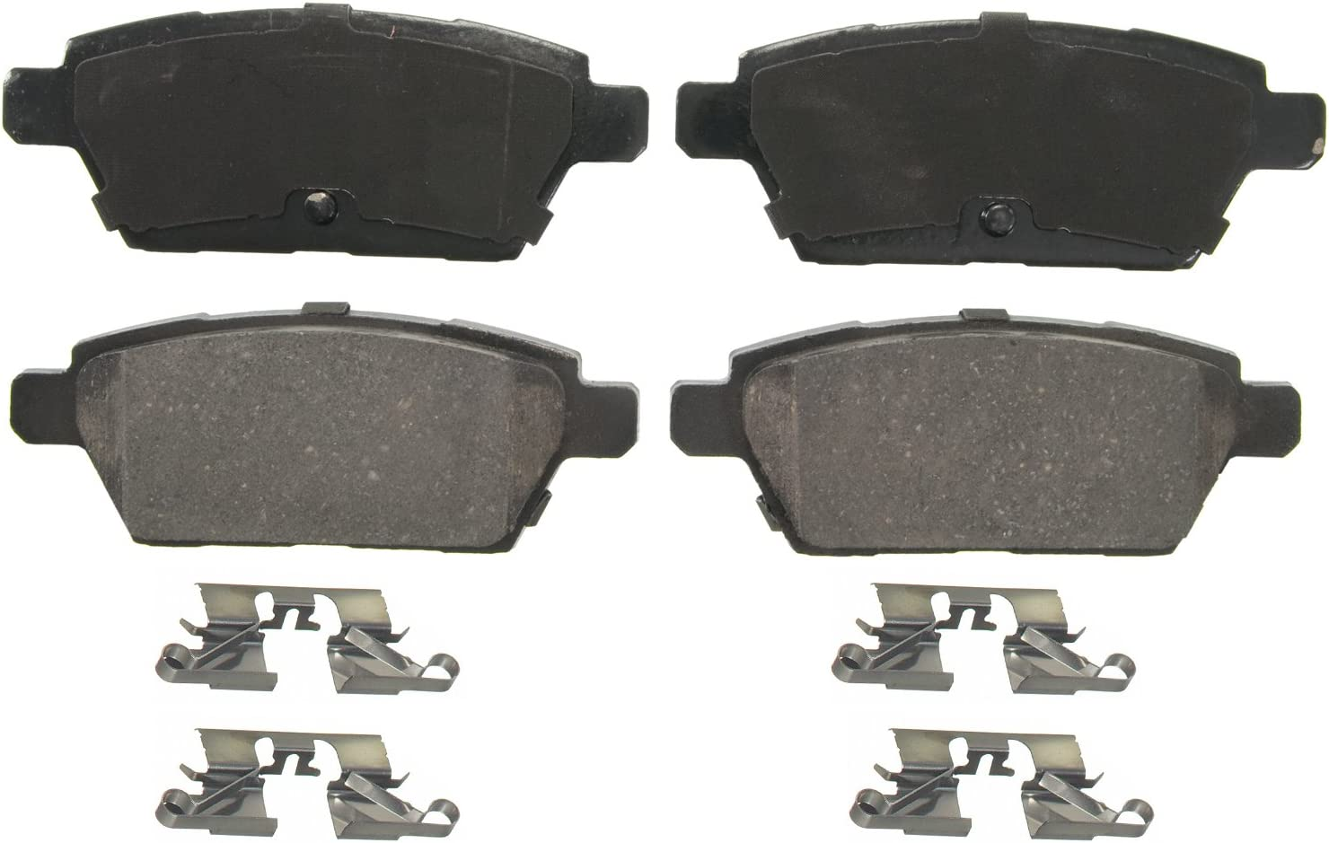 Rear Wagner QuickStop ZD1161 Ceramic Disc Pad Set Includes Pad Installation Hardware