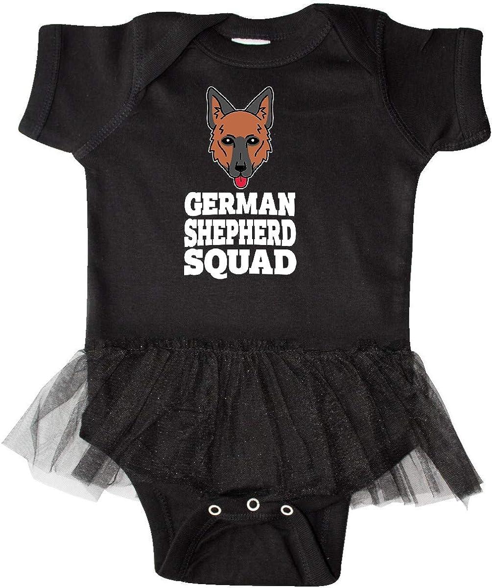 inktastic Dog German Shepherd Squad Infant Tutu Bodysuit