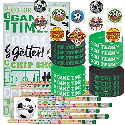 Amazon.com: Favores de fiesta de fútbol para 24 – Lápices de ...