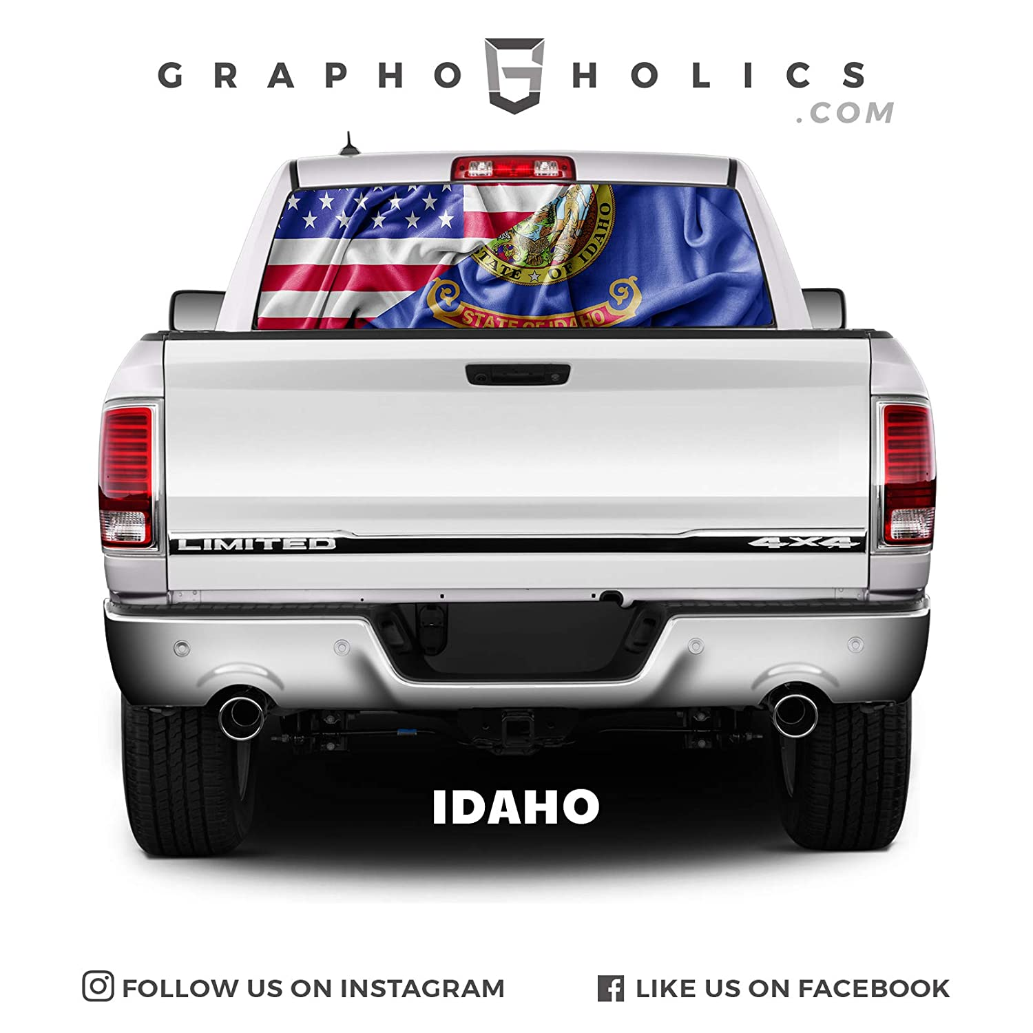 Idaho Pick-Up Truck Perforated Rear Window Wrap
