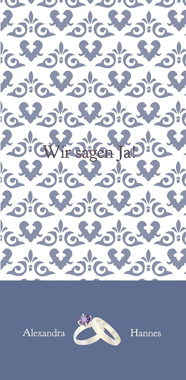 Kartenparadies Hochzeitskarte Einladung Einladung Einladung Ornament mit Herz, hochwertige Einladung zur Heirat inklusive Umschläge   10 Karten - (Format  105x215 mm) Farbe  Rosadunkellila B01N134DF8 | Smart  | Offizielle  | Haltbarkeit  ccdefd