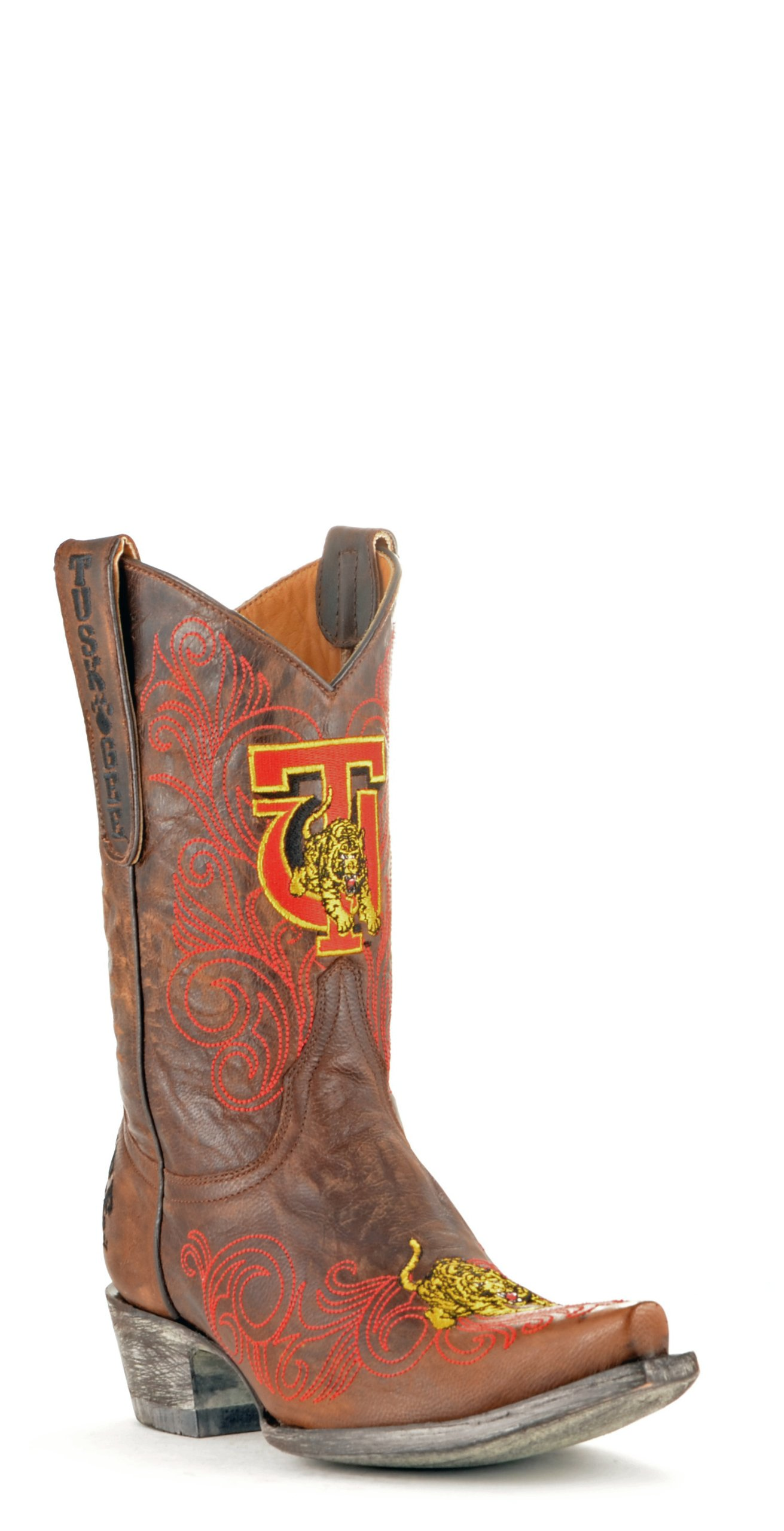 Gameday Boots NCAA Ladies 10 inch University Boot Tuskegee Golden Tigers, 8 B (M) US, Brass by GAMEDAY BOOTS