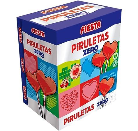 FIESTA Kojak Sin Azúcar Caramelo con Palo Sabor Cereza ...