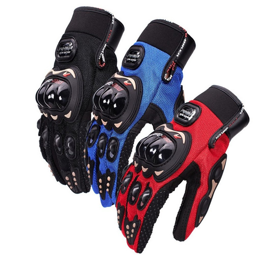 Wonzone Motorbike Protective Carbon Fiber Powersports Off-Road Racing Cycling Motorcycle Full Finger Motocross Motor Gloves (Red, Medium) by Wonzone2161 (Image #7)