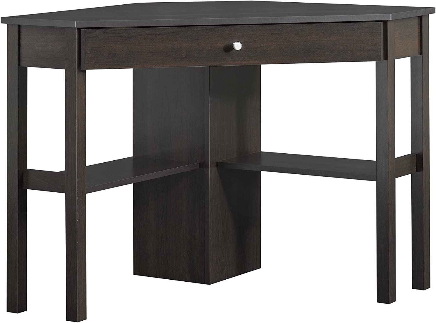 Sauder Beginnings Corner Computer Desk, L 45.95 x W 23.39 x H 29.92 , Cinnamon Cherry finish