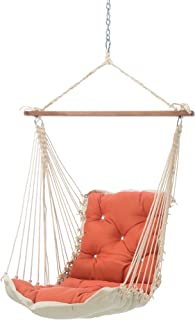 product image for Hatteras Hammocks Echo Sangria Sunbrella Tufted Single Swing, 350 LB Weight Capacity, Handcrafted in The USA, Perfect for Indoor or Outdoor Use