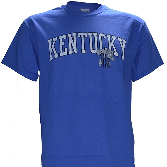 6461b83ca35d Amazon.com  University of Kentucky Wildcats UK Basketball KY Arch  Distressed Style T Shirt Blue  Clothing
