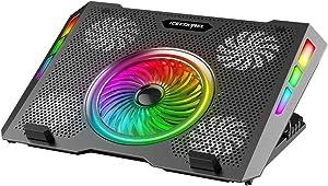 ICE COOREL Gaming Laptop Cooling Pad, RGB Laptop Cooler Pad 15-17.3