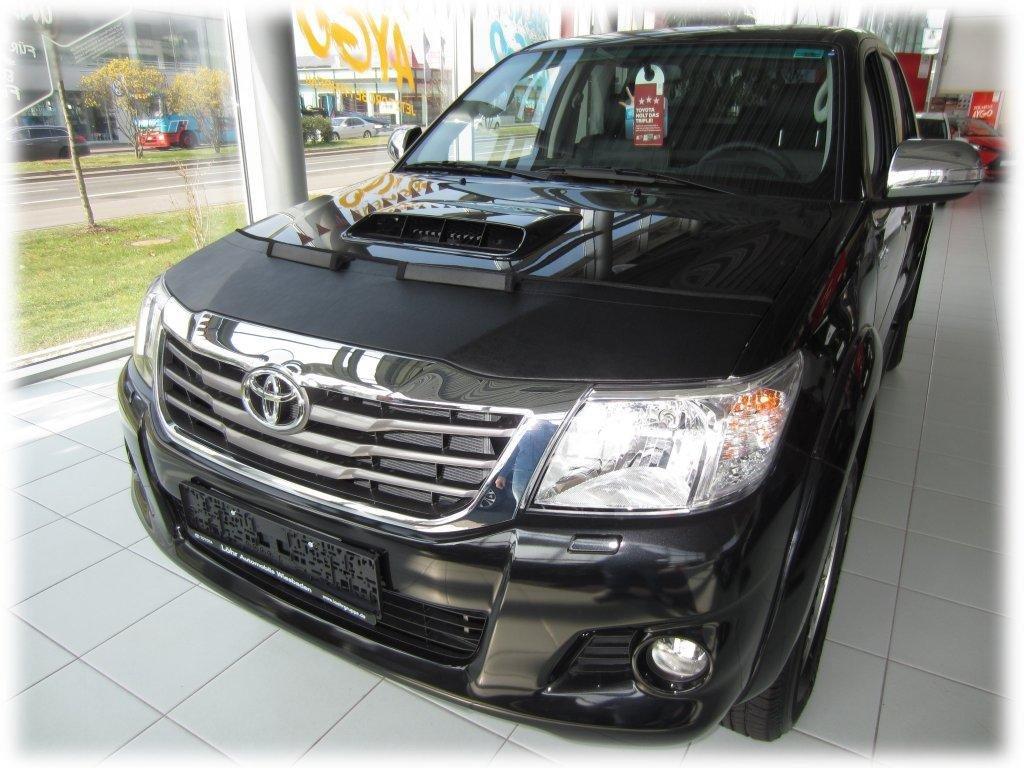 AB-00683 Carbon Fiber Look Hood Bra fit Toyota Hilux 2005-2015 Front End Nose Mask Bonnet Bra