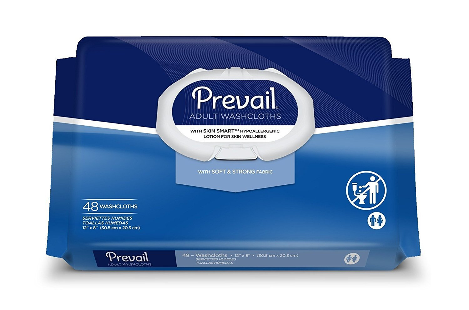 Prevail Personal Wipe, Bath Wipe Washcloth, 48 Pack, Soft Pack, Vitamin E