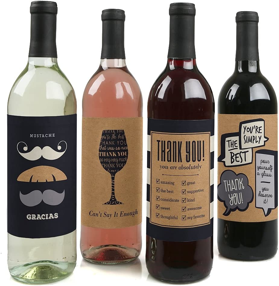 This is an image of wine bottles with personalized bottle labels.
