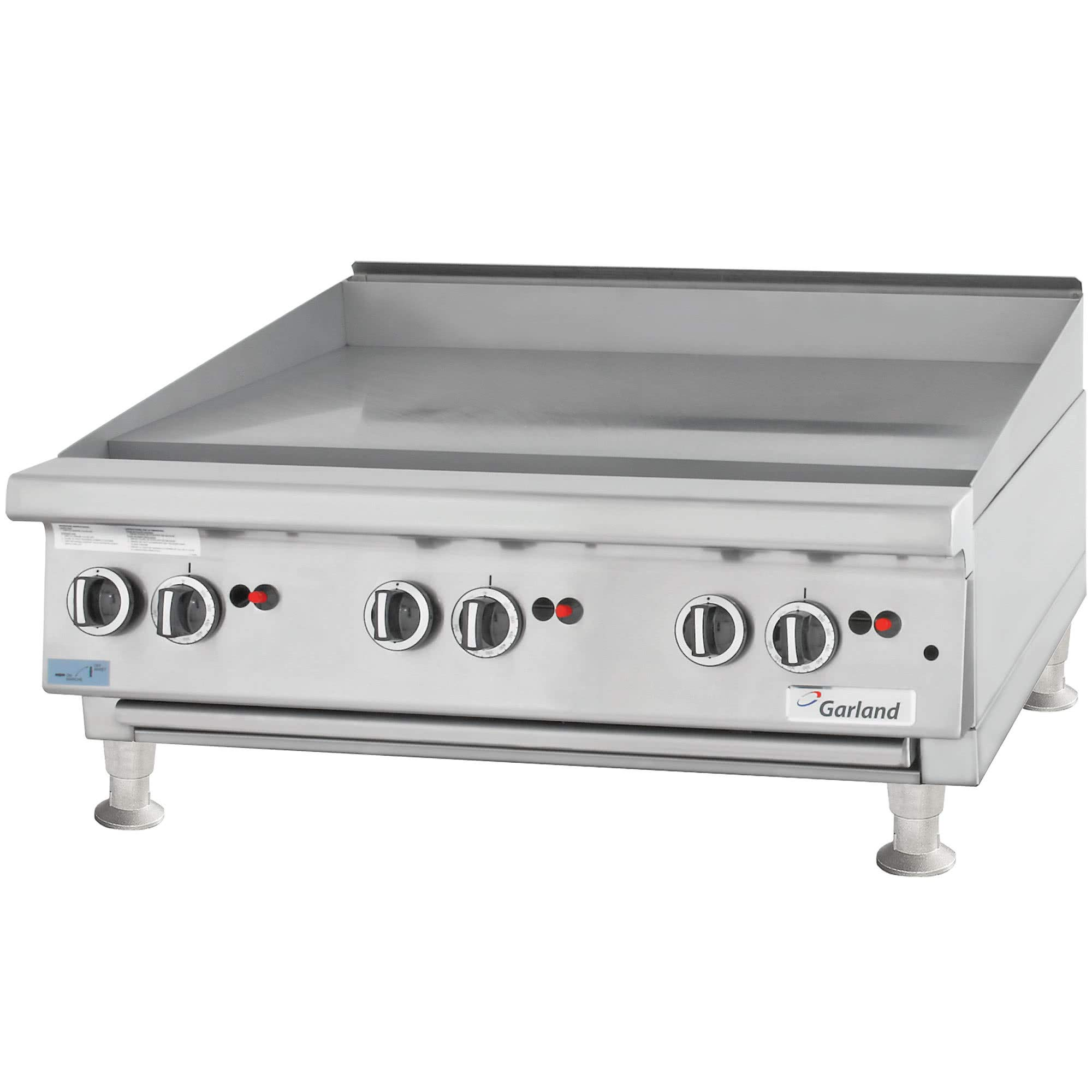 TableTop King GTGG24-G24M Liquid Propane 24'' Countertop Griddle with Manual Controls - 54,000 BTU