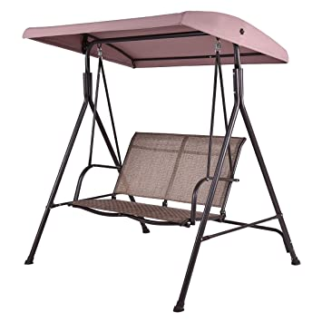 Tangkula Outdoor Swing Deck 2 Person Canopy Porch Swing Hammock Bench Loveseat  sc 1 st  Amazon.com & Amazon.com : Tangkula Outdoor Swing Deck 2 Person Canopy Porch ...