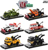 1:64 M2 MACHINES COLLECTION - AUTO-TRUCKS RELEASE 44 IN ACRYLIC CASES Set Of 6pcs Diecast Model Car By M2 Machines