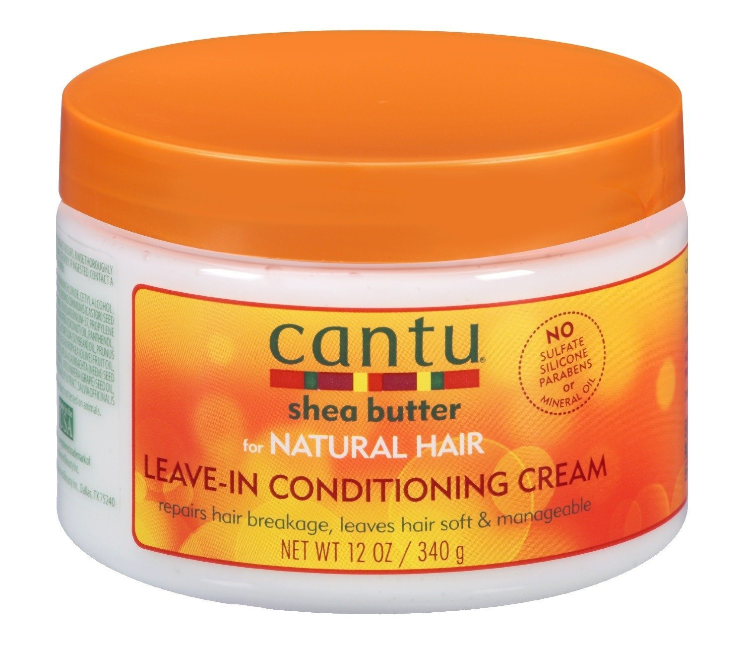 Cantu Natural Hair Leave-In Conditioner Cream Jar 12 Ounce (354ml) (2 Pack)