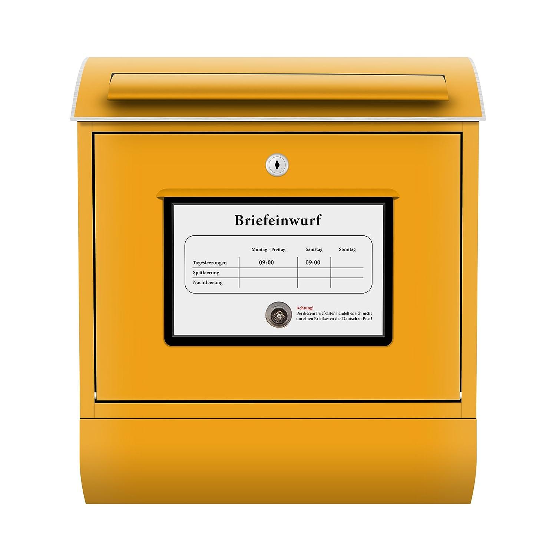 design briefkasten postkasten briefe post päckchen sendung gelb