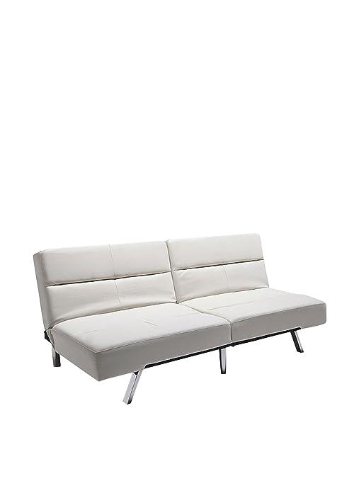Wink design, Gulfport, creama divano letto in pelle eco panna ...