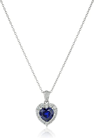 Silver Pave Pendant CZ White Sterling 925 Cubic Zirconia Genuine Topaz Sky Blue Pendant Made in Italy Necklace Silver Chain and Pendant
