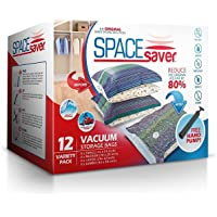 Sacs de Rangement Sous Vide Jumbo 100x80cm Premium Space Saver + Sans Hand-Pump Pour Voyage.(80% de L'espace de Stockage Plus Que Les Autres Marques. (Garantie de Remplacement à Vie!)