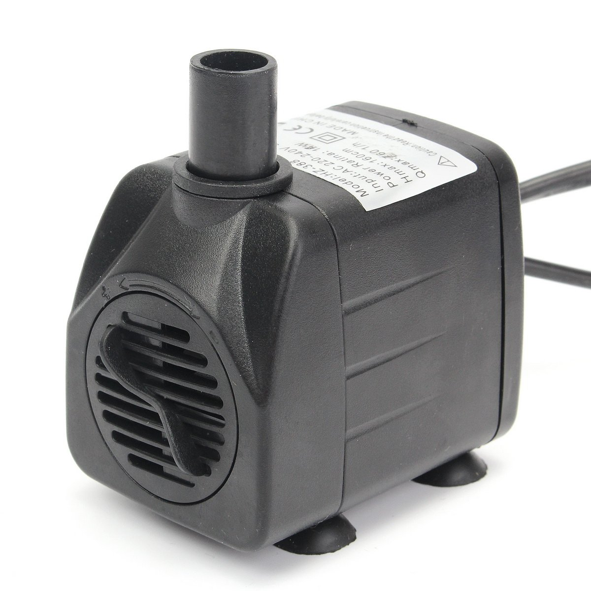 UL 220V 50Hz/60Hz 420L/h LED Light Submersible Water Pump Aquariums Fish Pond Fountain Sump Waterfall