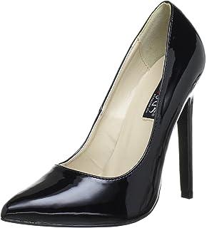 Pleaser EU-SEDUCE-420V - Zapatos de tacón de material sintético mujer, color negro, talla 39