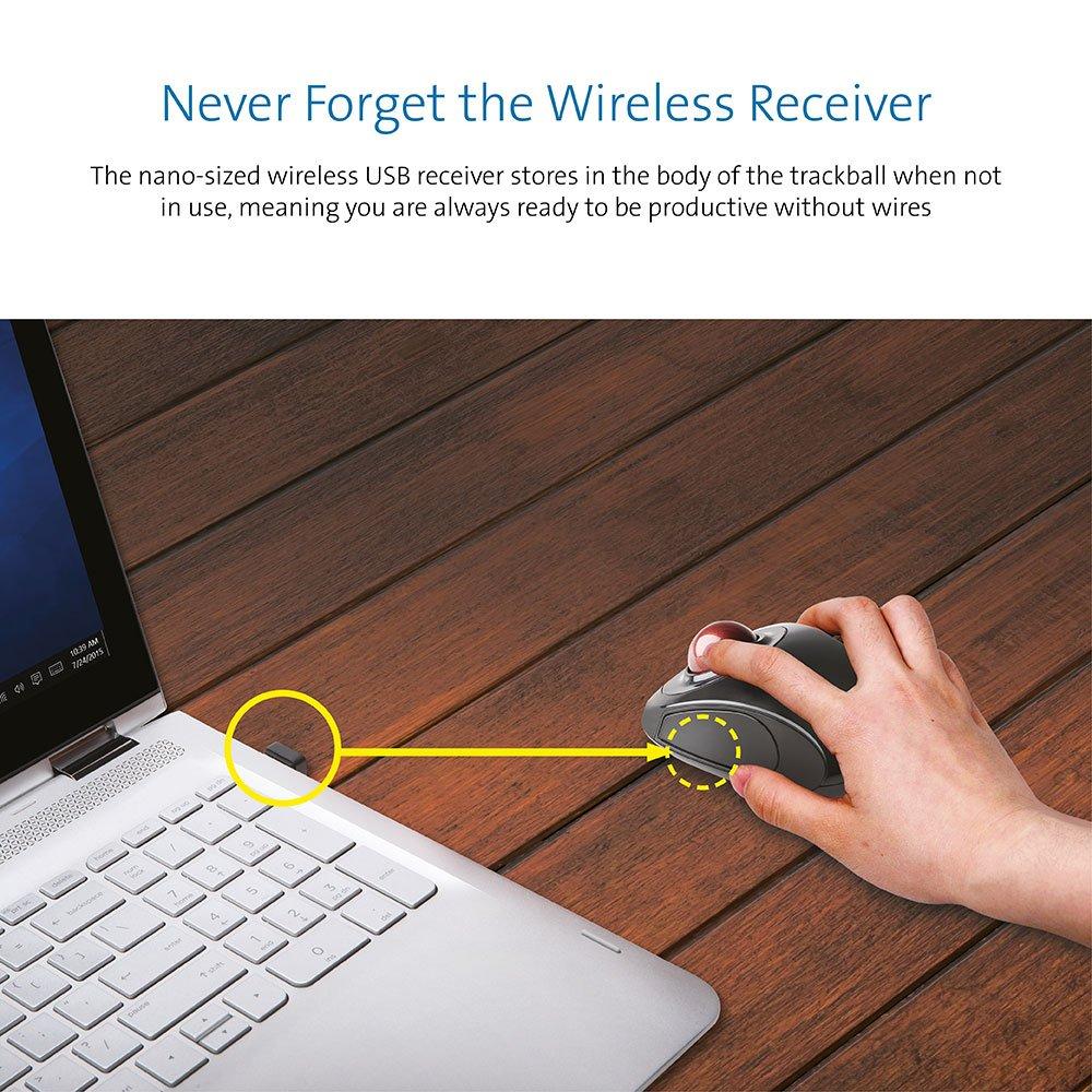 Kensington K72352EU Orbit Mouse - Ratón Ergonómico Inalámbrico con Bola de Desplazamiento, Compatible con Windows y Macos, Rojo Rubí: Kensington: Amazon.es: ...