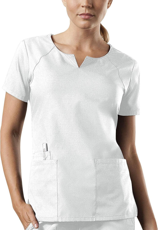 Smart Uniform Workwear 4 Pocket Notch Neck Scrub Top New Edition