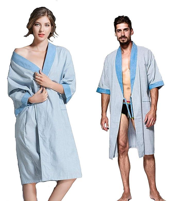Kimono Mujer Verano Satín Camisones Casual Color Sólido Modernas Casual Batas Mangas 3/4 V-Cuello con Cinturón Pijamas Mujer Albornoz: Amazon.es: Ropa y ...