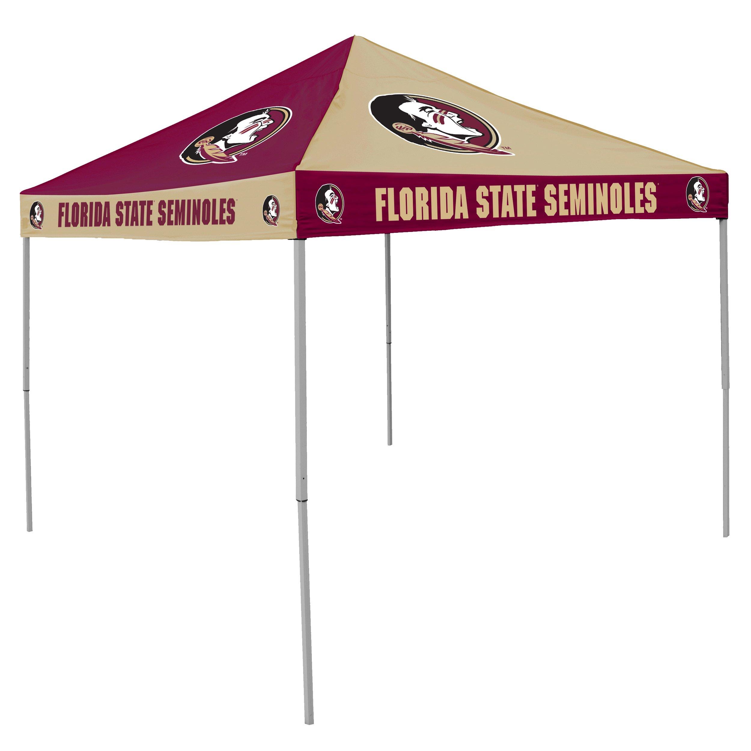 NCAA Florida State Seminoles 9-Foot x 9-Foot Pinwheel Tailgating Canopy, Garnet/Gold by Logo Brands