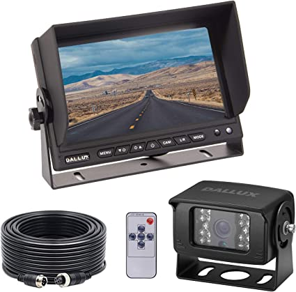 Digital Wireless 7/'/' Monitor Truck RV Bus Backup Rear View 170° Camera System