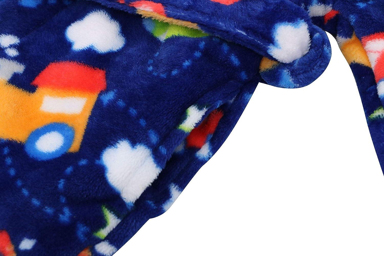 Verabella Boys Girls Plush Soft Fleece Printed Hooded Beach Cover up Pool wrap