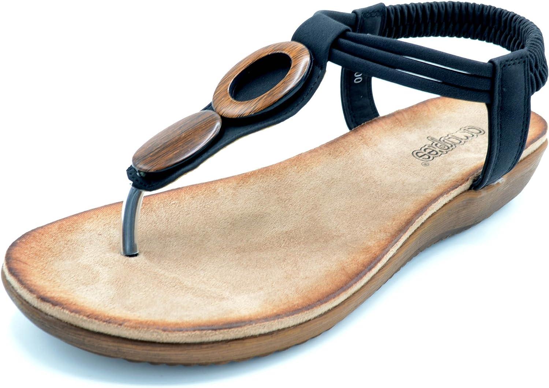 Amarpies ABZ12100 Negro - Sandalia con Planta Gel