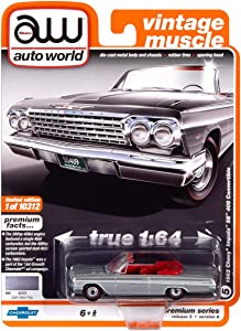 Auto World 1962 Chevrolet Impala SS Convertible Silver 1:64 Die-Cast Model Car