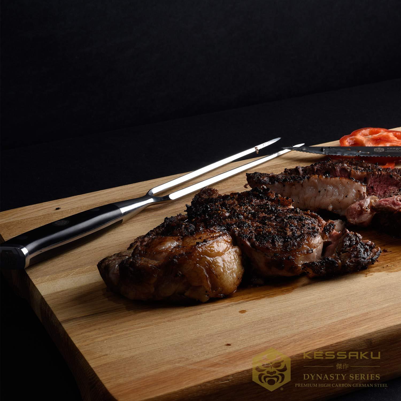 Kessaku Meat Carving Fork - Dynasty Series - German HC Steel, G10 Full Tang Handle, 7-Inch by Kessaku (Image #3)