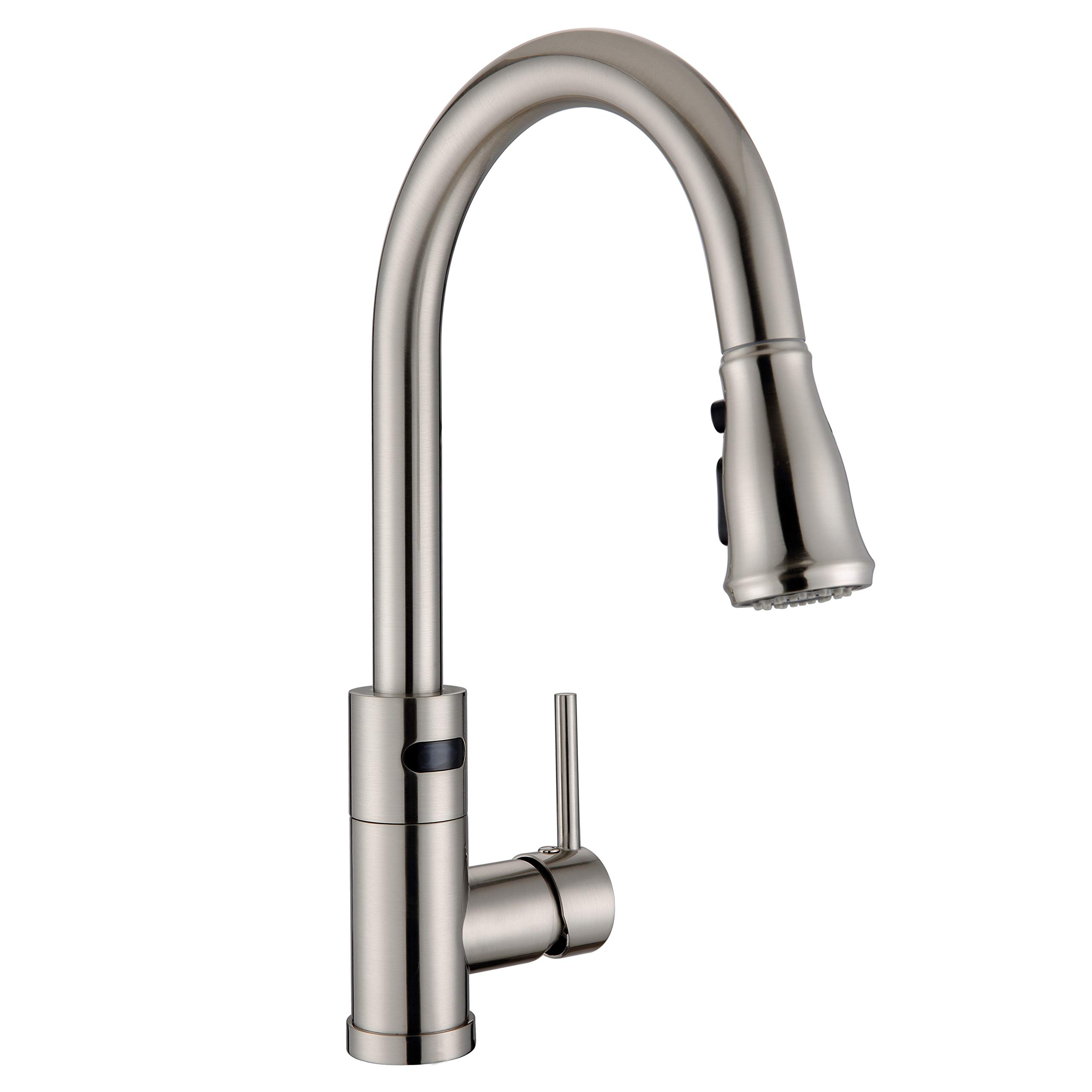 WILLSLAND Touchless Kitchen Faucet with 3-mode Pulldown Sprayer, Brushed Nickel Swivel Motion Sensor Kitchen Sink Faucet Automatic Kitchen Faucet with Sensor Brass Body Easy Installation by WILLSLAND