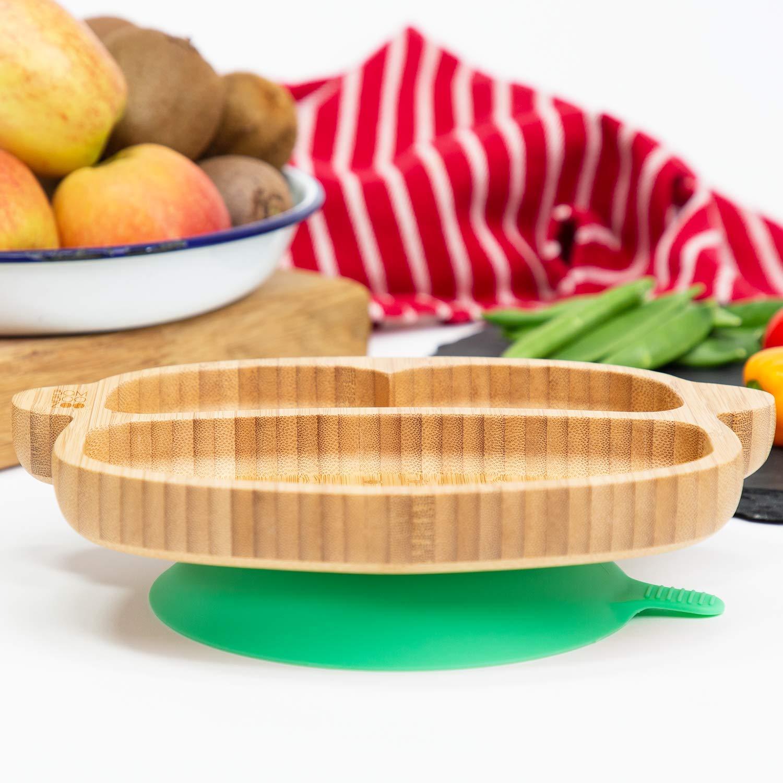 Plato de bamb/ú con ventosa de silicona para beb/é BambooZoo