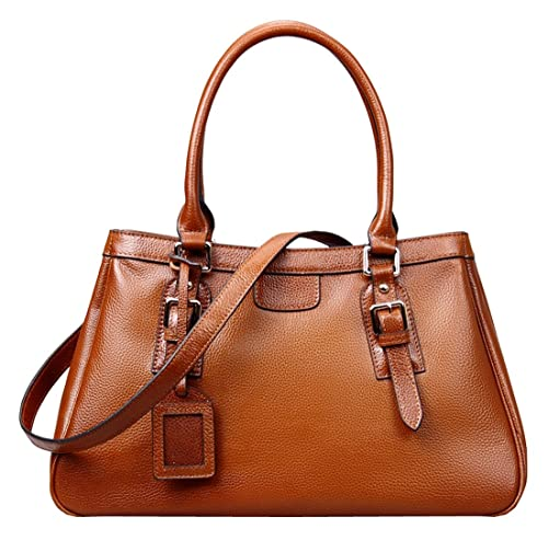 Amazon.com  Heshe Women s Leather Handbags Top Handle Bag Shoulder Handbag  Satchel Designer Purse with Long Shoulder Strap (Sorrel)  Shoes 0416dc703413c