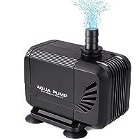 MVPOWER Bomba de Agua Sumergible Bomba para Estanque Fuente Acuario Potencia de 15W Velocidad de Flujo de 1500L/H…