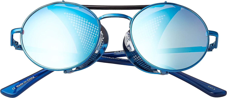 Steampunk Deep Blinder Sunglasses Retro Women Mens Round Goggles Glasses UV400
