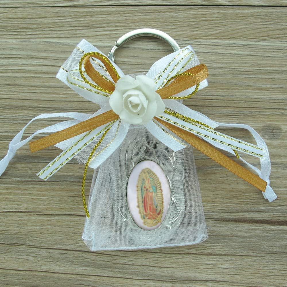 Baptism Favors Bag Fillers Boy Girl Keychains Virgen Guadalupe Recuerdo Bautizo