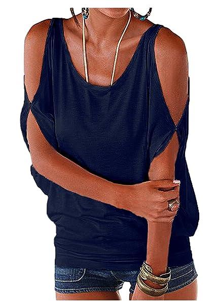 7993c611b Imixcity Verano Camisas De Hombro Frío Blusas Tops del Batwing Camisetas  sin Mangas Camiseta Casual Camiseta