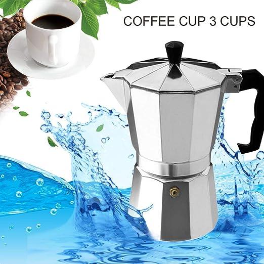 Footprintse Aluminio 8-Angulo Moka Pot Espresso Cafetera superior ...